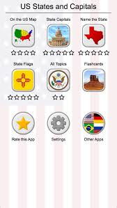 us map capitals 50 us states map capitals flags quiz android apps