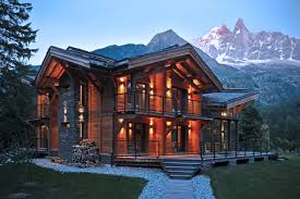 Gothic Homes Exciting Luxury Wooden House With Spectacular Glass Railing And