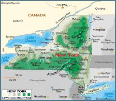 New York mountains images Map of new york large color map gif