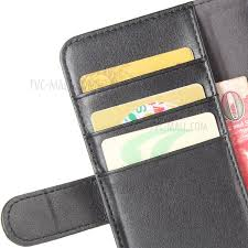 genuine split leather card holder stand phone cover for huawei p8