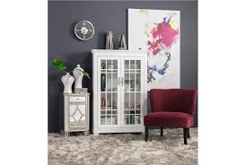 Curio Cabinets Living Spaces Hamden White Cabinet Living Spaces