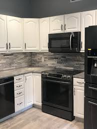 kitchen ideas with white cabinets and black appliances grey and white kitchen concrete countertops kitchen