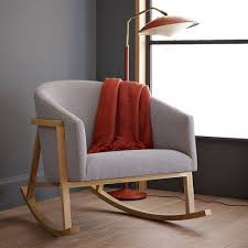 Upholstered Rocking Chairs For Nursery Modern Upholstered Rocking Chair Collection In Modern Rocking