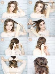 hair braiding styles step by step 15 cute and easy hairstyle tutorials for medium length hair gurl