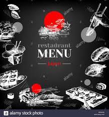 drawing japanese sushi food dish stock photos u0026 drawing japanese