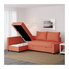 Ikea Sleeper Sofa With Chaise Friheten Sleeper Sectional 3 Seat W Storage Skiftebo Orange