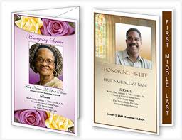 memorial service programs templates free funeral program templates new layouts and designs from