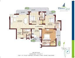 Mandir Floor Plan by Overview Sikka Karmic Greens Sector 78 Noida Goldmine