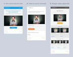 Responsive Email Template Download by 4 Free Video Email Templates For Download