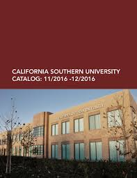 california southern university catalog by california southern