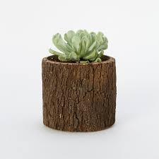 log cylinder pot terrain