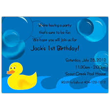 bubbly duck birthday invitations paperstyle