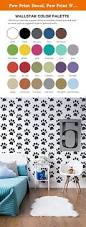 Nursery Wall Decals Animals by Paw Print Decal Paw Print Wall Decal Animal Print Decor Nursery