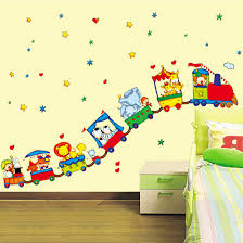 How To Decorate Nursery Classroom Circus Car Decoration Baby Room Wall Stickers