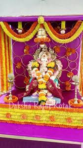Decoration Themes For Ganesh Festival At Home by 135 Best Ganpati Decorations Images On Pinterest Ganesha