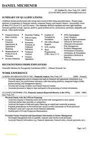 financial analyst resume best of sle resume for financial analyst sle resume for
