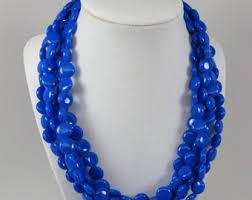 blue fashion necklace images Multi strand necklaces etsy jpg