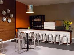 impressive modern home bar design ideas with long brown top bar