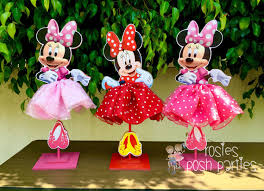 minnie mouse center pieces minnie mouse birthday decoration tutu pink or wood table