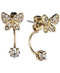 front and back earrings lonna lilly gold tone butterfly front back earrings