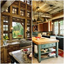 Kitchen Rustic Design Cozy Rustic Kitchens Worthy Of A Mountain Lodge