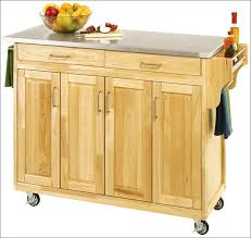 Small Butcher Block Kitchen Island Kitchen Kitchen Cabinet On Wheels Portable Island With Seating