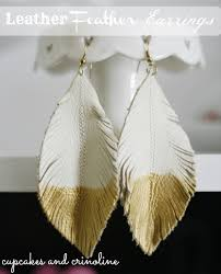 how to make feather earrings make feather earrings from leather scraps