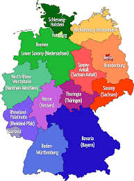 map of gemany map of germany states major tourist attractions maps