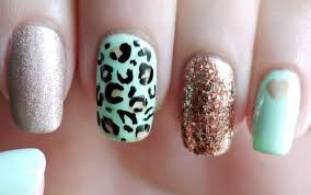 mint leopard nails youtube
