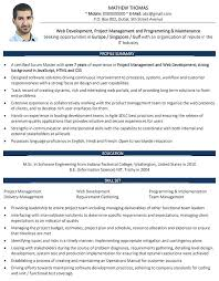 sample resume for experienced web designer web developer samples