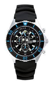 depthmeter chronograph 300m chris benz shark proof
