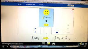 level 1 tutorial phet balancing chemical equations youtube