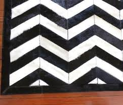 Cowhide Rug Patchwork Black And White Chevron Rug Chevron Cowhide Rug Patchwork