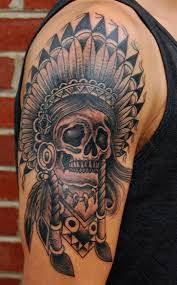 tattoos for men indian james indian skull aj lingerfeldt tattooer