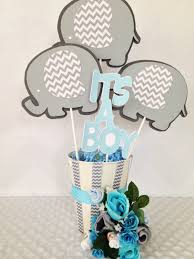 Baby Boy Welcome Home Decorations by Elephant Baby Shower Centerpiece Elephant Theme Baby Shower Party