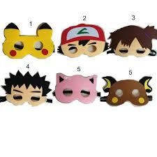 6 style poke mask cosplay pikachu mask halloween party costumes