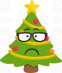 a sad geeky christmas tree cartoon clipart vector toons