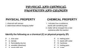 answers physical chemical properties change google docs