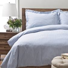 oxford stripe 100 percent cotton yarn dyed 3 piece duvet cover set