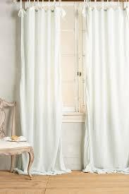 Curtains Cotton Tie Top Curtain Anthropologie