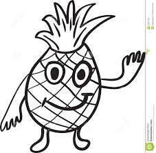 pineapple cartoon sketch stock vector image 41661764