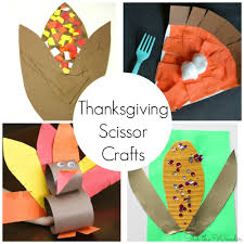 thanksgiving scissor crafts for preschoolers stir the wonder
