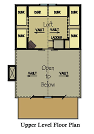 Small Lake Cabin Plans Small Cabin Plan With Loft Bunk Rooms Cabin Floor Plans And Cabin