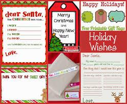 Printable Santa List Templates Free Christmas Printables For Preschoolers Play To Learn