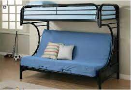 Twin Over Twin Metal Bunk Bed  With Futon Fortune Global - Metal bunk beds with futon