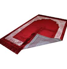Extra Large Red Rug Plush Wide Extra Large Islamic Prayer Rug Red Simple