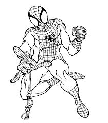 spiderman clipart easy coloring pencil color spiderman