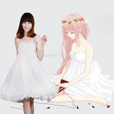online shop 2016 luka megurine luka white strap dress girls