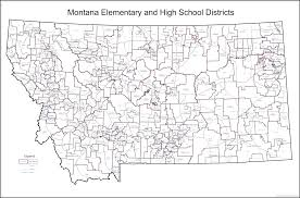 Montana Map by Directory Of Montana Schools