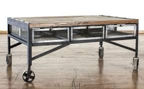 industrial coffee table with drawers industrial cart coffee table with drawers